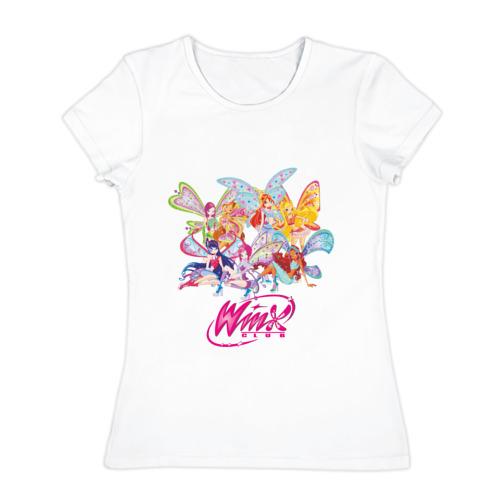 Женская футболка хлопок Winx (3)