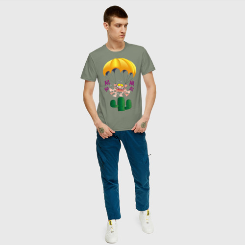 Мужская футболка хлопок Парашютист Фото 01
