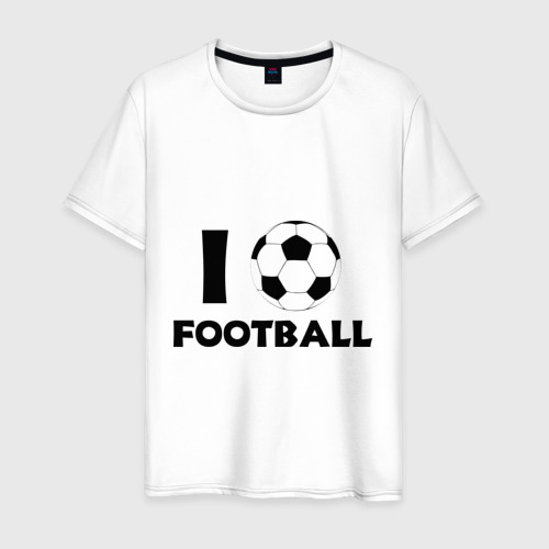 Мужская футболка хлопок I love football