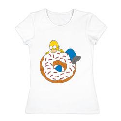 Гомер ест пончик