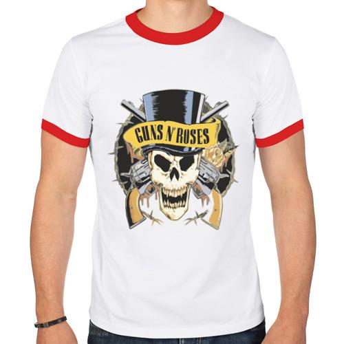 """Мужская футболка-рингер """"Guns n roses"""" - 1"""