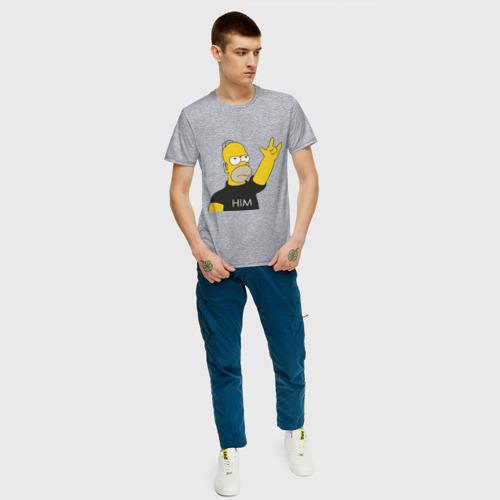 Мужская футболка хлопок Гомер rock фанат Фото 01