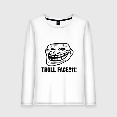 Женский лонгслив хлопок Troll face