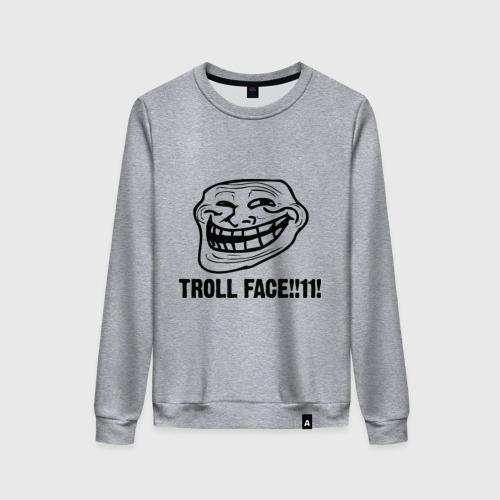 Женский свитшот хлопок Troll face Фото 01