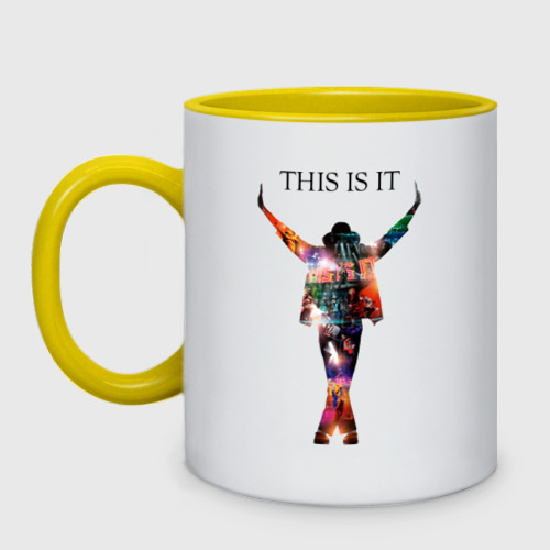 Кружка двухцветная  Фото 01, Майкл Джексон