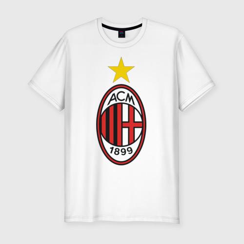 Мужская футболка премиум Italian Serie A. AC Milan