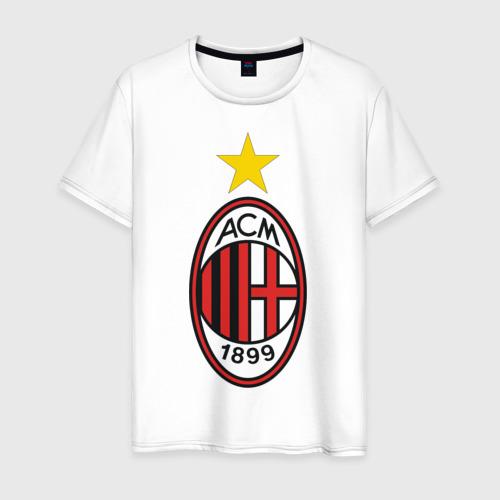 Мужская футболка хлопок Italian Serie A. AC Milan