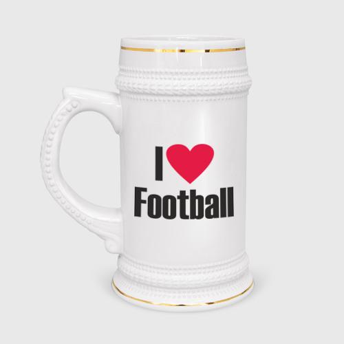 Кружка пивная  Фото 01, Я люблю футбол!