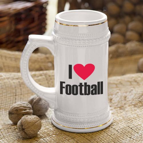 Кружка пивная  Фото 04, Я люблю футбол!
