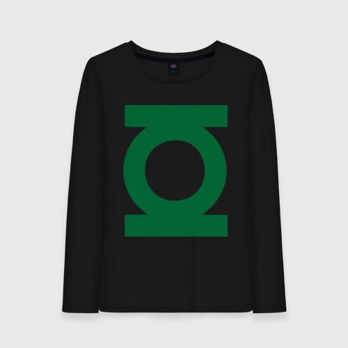 Женский лонгслив хлопок Зеленый фонарь
