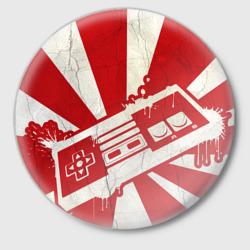 Японский флаг с джойстиком