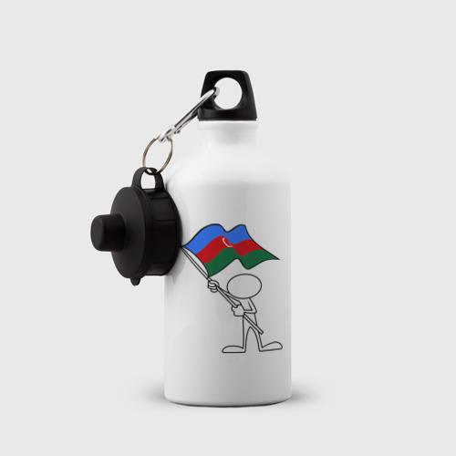 Бутылка спортивная  Фото 03, Waving flag - Azerbaijan
