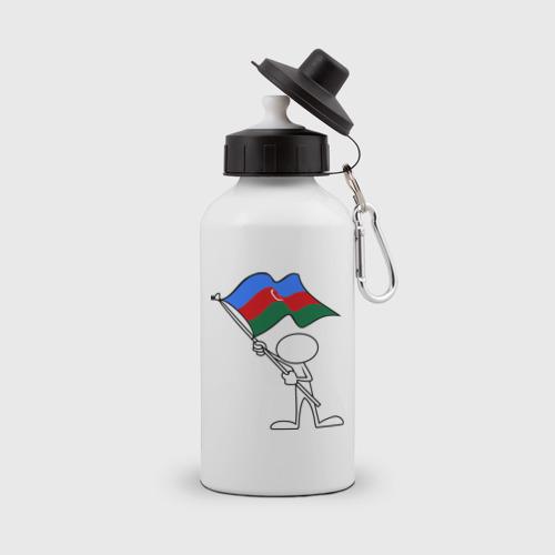 Бутылка спортивная  Фото 01, Waving flag - Azerbaijan