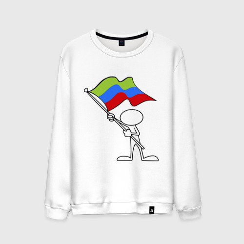 Мужской свитшот хлопок  Фото 01, Waving flag - Dagestan
