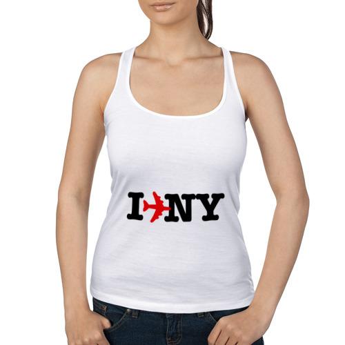 Женская майка борцовка  Фото 01, I flew to New York