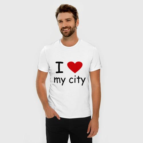 Мужская футболка премиум  Фото 03, I love my city