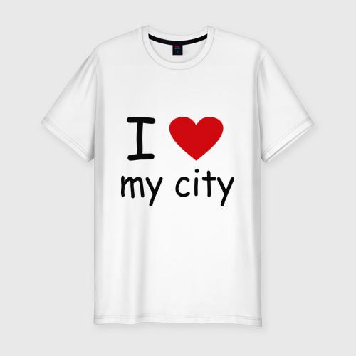 Мужская футболка премиум  Фото 01, I love my city