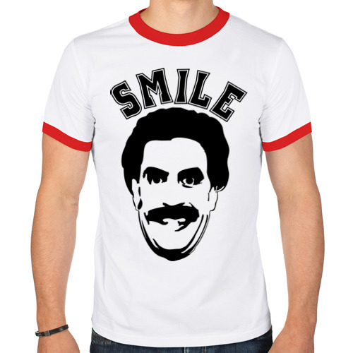 Мужская футболка рингер  Фото 01, Борат-smile