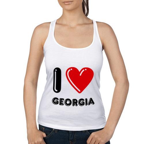 Женская майка борцовка  Фото 01, I love Georgia
