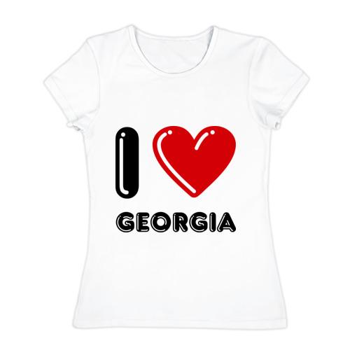Женская футболка хлопок I love Georgia