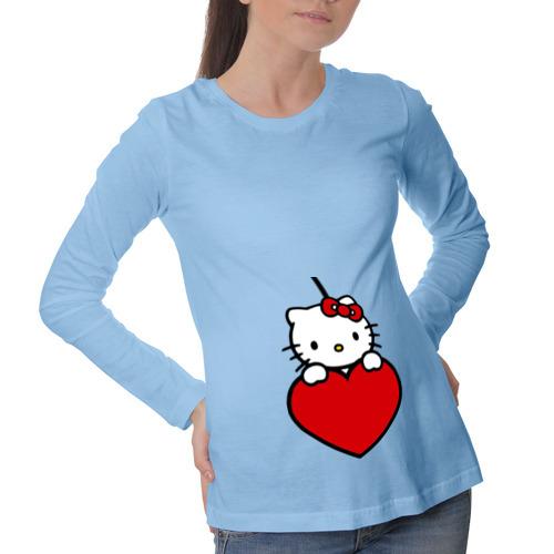 Лонгслив для беременных хлопок Китти с сердечком (2)
