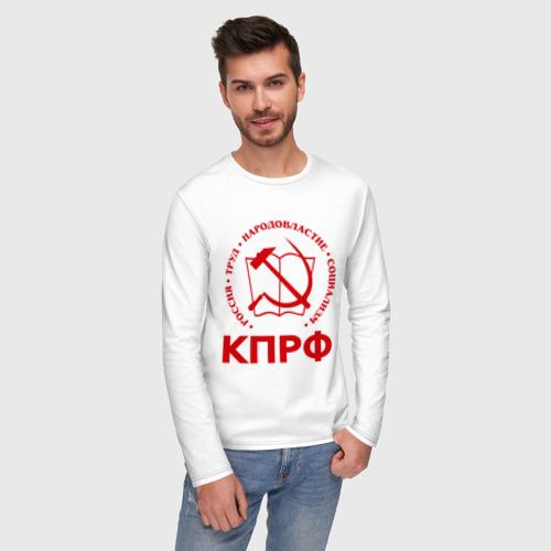Мужской лонгслив хлопок КПРФ Фото 01