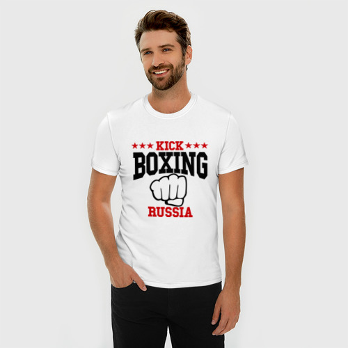 Мужская футболка премиум  Фото 03, Kickboxing Russia