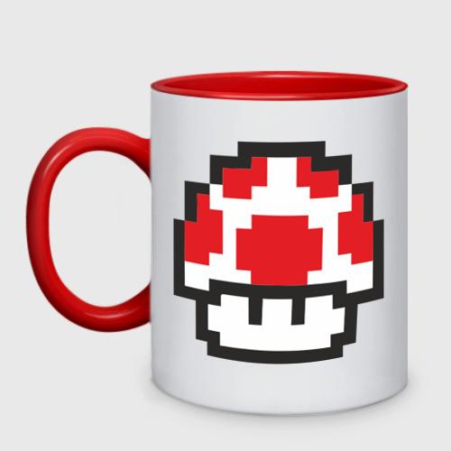 Кружка двухцветная Грибок из игры Марио Фото 01
