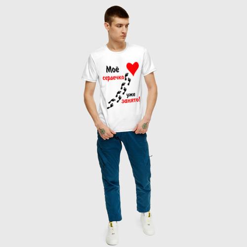 Мужская футболка хлопок Мое сердечко занято Фото 01