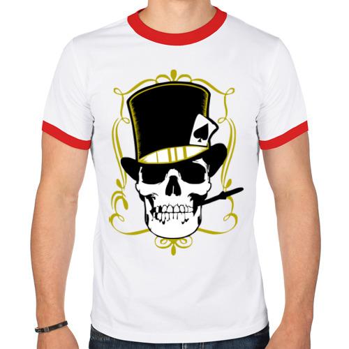 Мужская футболка рингер  Фото 01, Poker cherep