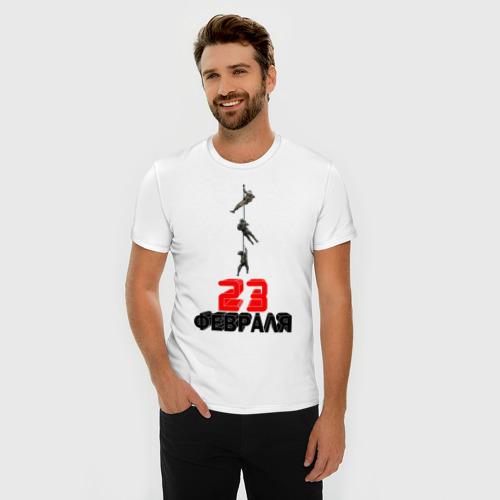 Мужская футболка премиум  Фото 03, 23 февраля (Спецназ)