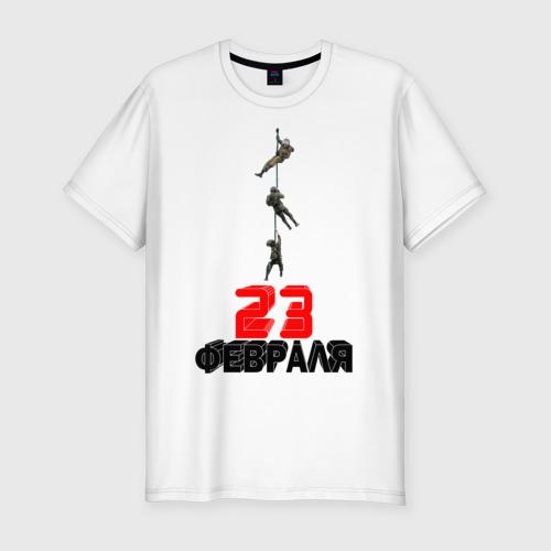 Мужская футболка премиум  Фото 01, 23 февраля (Спецназ)