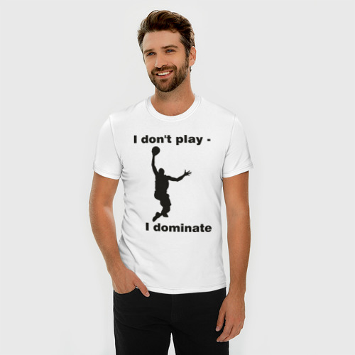 Мужская футболка премиум  Фото 03, Я не играю - я доминирую