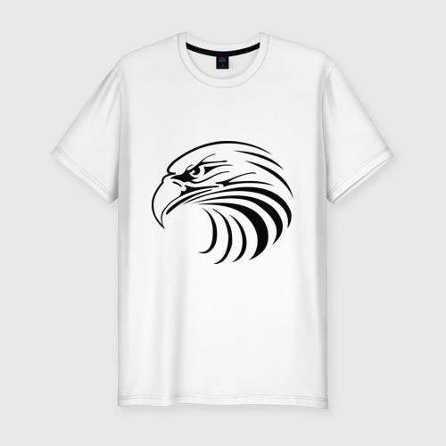 Мужская футболка премиум  Фото 01, Орел голова перья