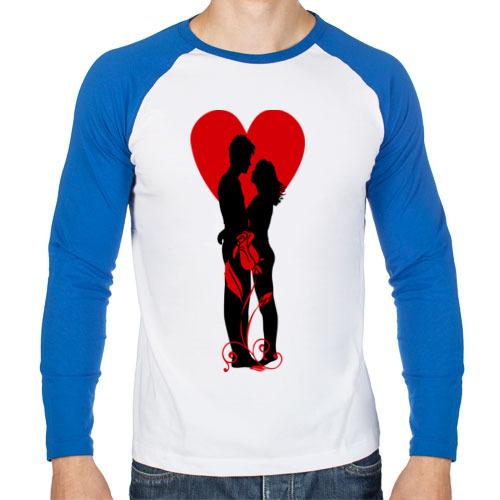 Мужской лонгслив реглан Be My Valentine (5)