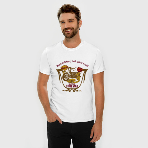 Мужская футболка премиум  Фото 03, Мото-байк