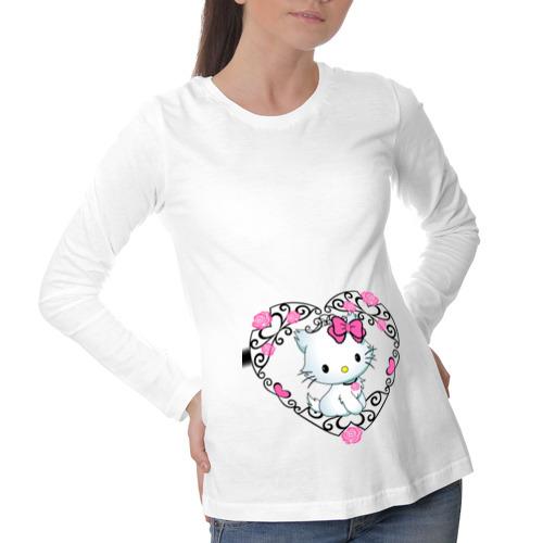 Лонгслив для беременных хлопок Китти в сердечке