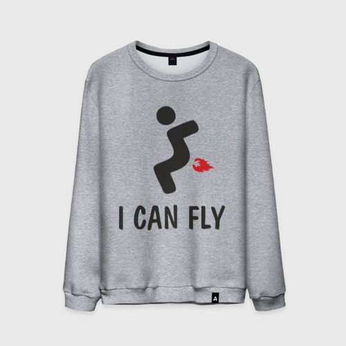 Мужской свитшот хлопок  Фото 01, I can fly - Я умею летать