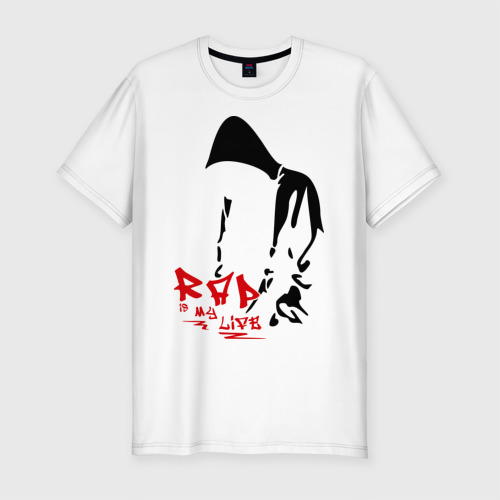 Мужская футболка премиум Rap is my life