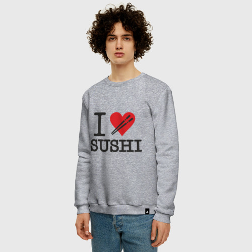 Мужской свитшот хлопок I love sushi Фото 01