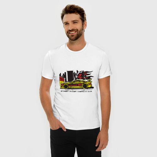 Мужская футболка премиум  Фото 03, Street racing car (3)