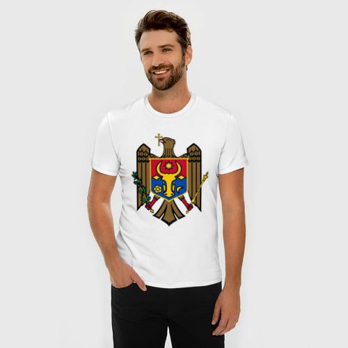 Мужская футболка премиум  Фото 03, Молдавия герб