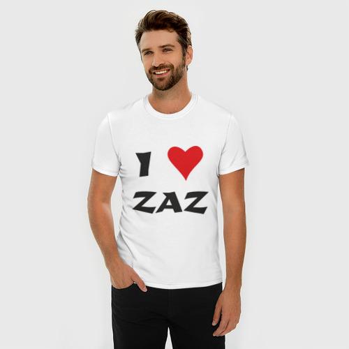 Мужская футболка премиум  Фото 03, Я люблю ZAZ