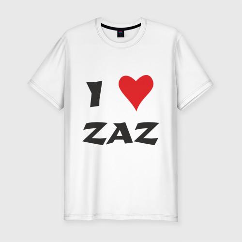Мужская футболка премиум  Фото 01, Я люблю ZAZ