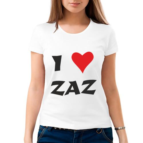Женская футболка хлопок  Фото 03, Я люблю ZAZ