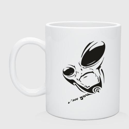 Кружка  Фото 01, Alien I see you