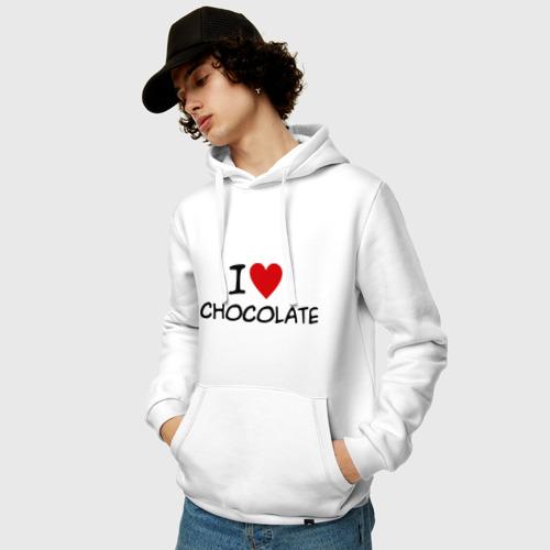 Мужская толстовка хлопок  Фото 03, Chocolate