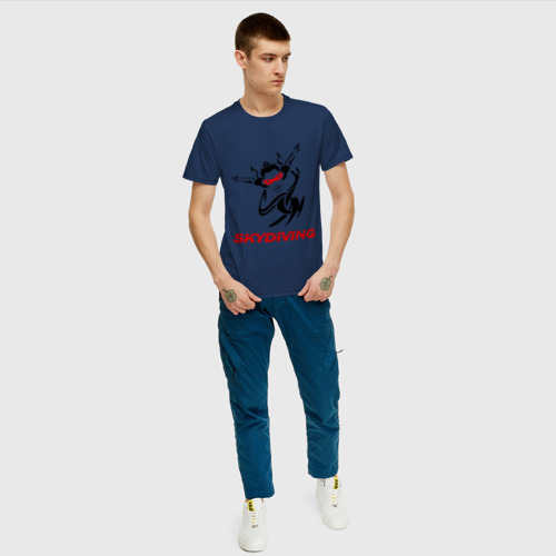 Мужская футболка хлопок Skydiving Фото 01