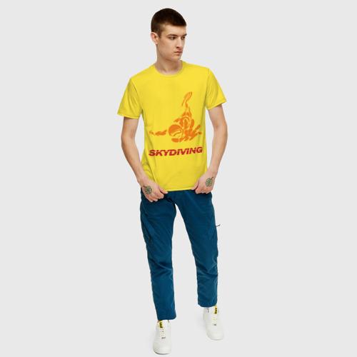 Мужская футболка хлопок Skydiving (2) Фото 01