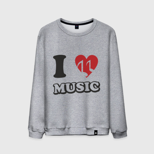 Мужской свитшот хлопок  Фото 01, I love music (5)
